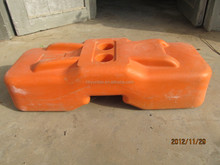 The hot sales orange plastic UV temporary fence foot base