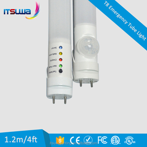 LED rechargeable Emergency T8 Tube with testing button and indicator 600mm