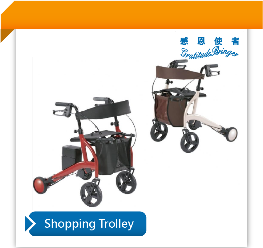 Folding Electric Rollator Walker with Shopping Bag