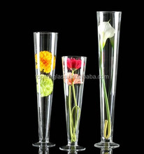 tall clear straight clear glass tall trumpet vase large vase