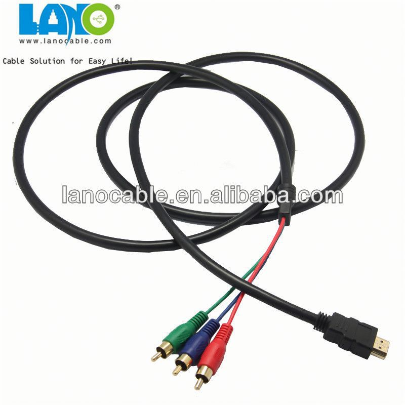 Buy HDMI Male to 3 RCA RGB Audio Video AV Cable