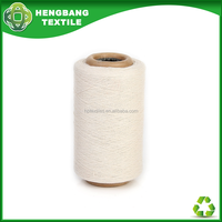 HB721 Wholesale recycled bleached tc oe polyester cotton cone yarn machine knitting price