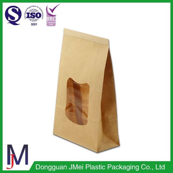 Clear resealable food packaging nylon cellophane Kraft black coffee bags with side gusset