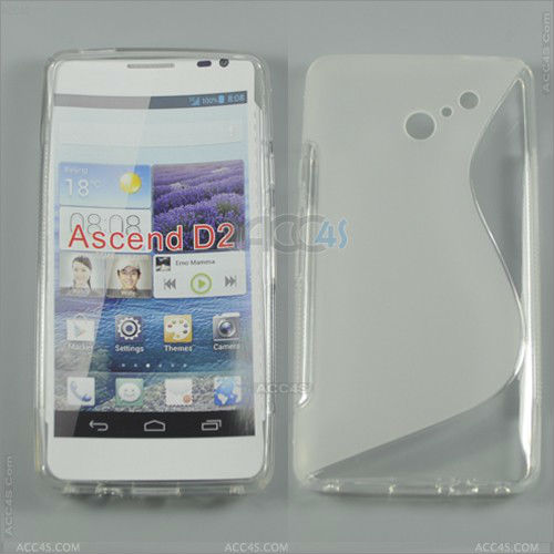 S-Type TPU Case Cover for HUAWEI Ascend D2 P-HUWEIAscendD2TPU001
