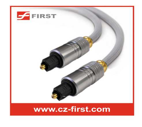 Cheap price 3m digital metal shell plug optical toslink sound cable wholesaler
