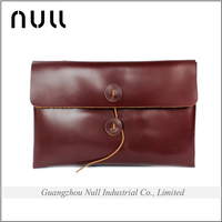 2016 new arrival Hot Sale Crazy horse style high quality men cross body plain wholesale leather material envelope clutch bag