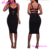 Black brown bandage midi harness latest dinner stylish alibaba dresses