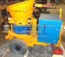 High production continous feeding material SLL small dry mix shotcrete machine