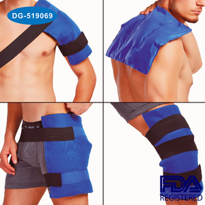 Large Flexible Gel Ice Pack and Wrap with Elastic Straps for Hot Cold Therapy
