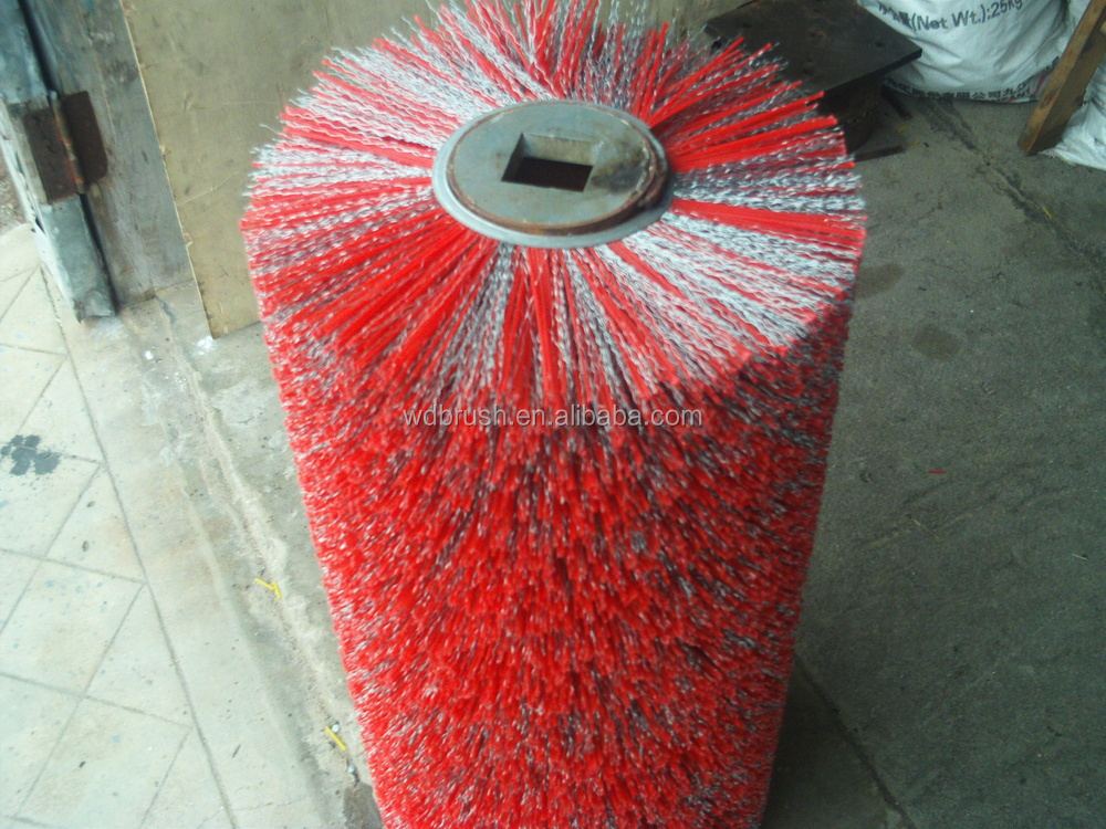 Industrial Nylon Roller Brush Sweeper For Road Cleaning