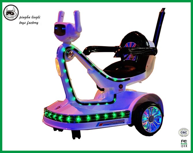 Shining light wheel model HEB-1258 electrical 3 wheels car with LED light, beautiful child electrical tricycle