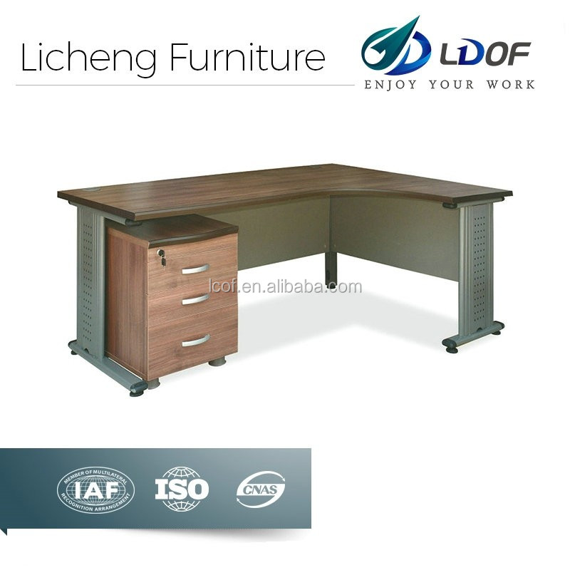 L shaped office furniture dubai wih SGS inspection