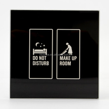 Customized Hotel touch panel dnd doorbell switch/do not disturb switch with doorbell