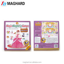 wholesale alibaba China factory directly OEM magnetic Dressup book , kids' toy
