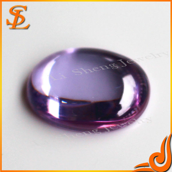 Oval shape grade AAA violet color loose gemstone cz stone