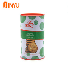 Food grade round metal tin can custom printed biscuits cookie tin can
