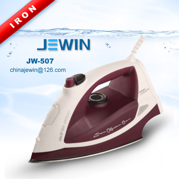 Stainless steel soleplate electric steam iron with boiler