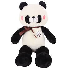 Wedding Gifts Stuffed 3d pp cotton Animal Cute giant Panda with bow tie Plush Toy