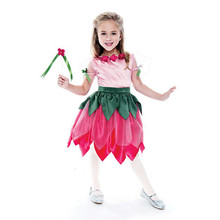 New design customized fancy dress flower child fairy costume