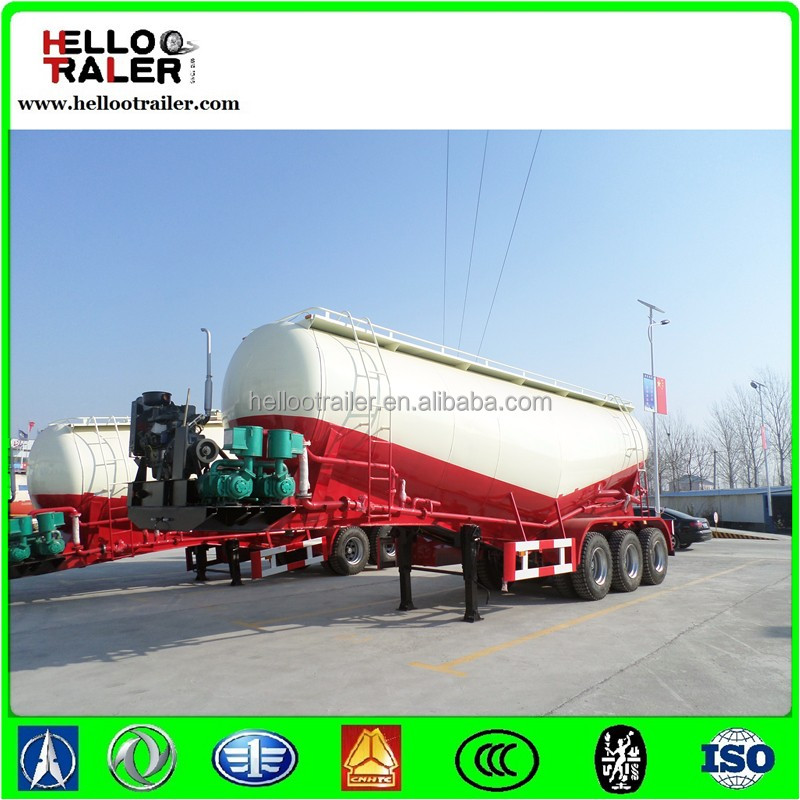 40--60m3 bulk cement tank semi trailer / V shape dry powder tanker truck
