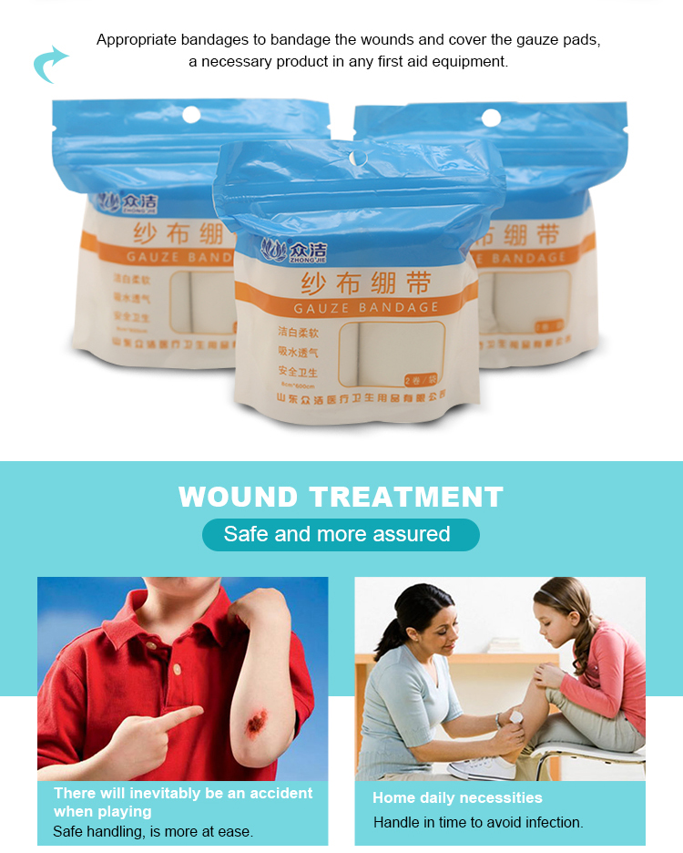 Medical cotton gauze bandage for wound care