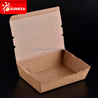 Chinese food take away brown paper lunch box