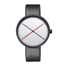 Minimalist japan movt quartz 316l stainless steel watch with leather strap