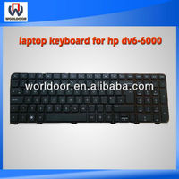 HOT SALE laptop keyboard for HP DV6-6000 black with frame SP