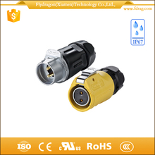 modular miniature industrial power plugs connectors