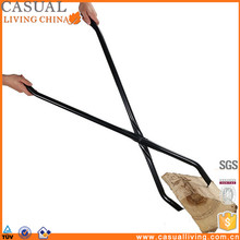 "40"" Log Claw Grabber Move Fire Wood Easily and Safely in Your Fire Pit or Fireplace stainless steel tongs"
