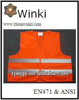 EN20471 Orange Safety Vest In stock For Woman and Man