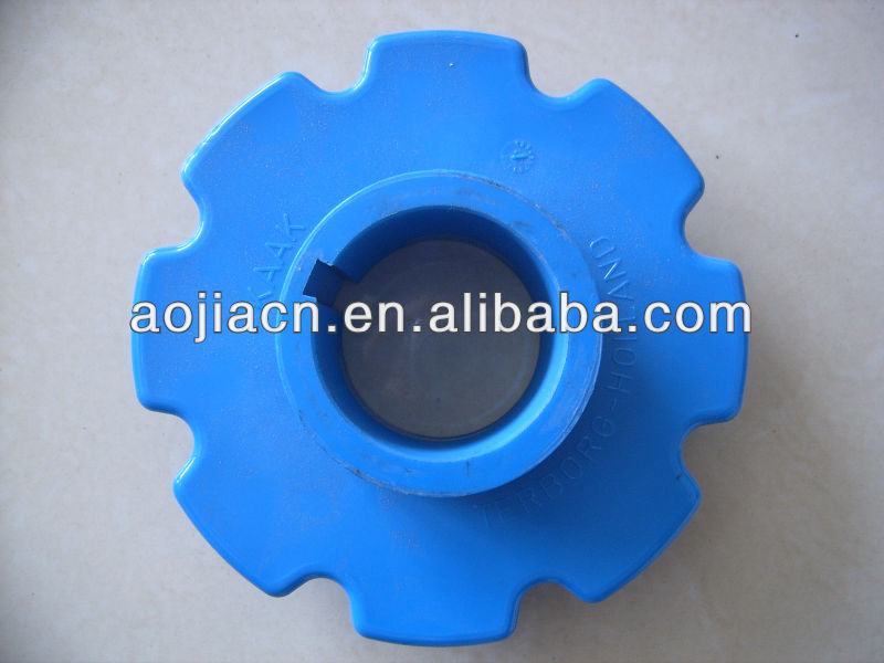 Plastic roller chain drive sprocket gear
