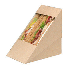 Cheap Disposable Brown Kraft Paper Sandwich Salad Hamburger Food Packaging Box