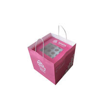 No window white cupcake box disposable with paper bag