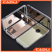Luxury Mirror Plastic Crystal TPU Bumper Phone Cases For Iphone 6 6s 4.7