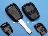 Novel Item &Promotion Fiat 1 button remote key shell (black) for fiat 500 key cover