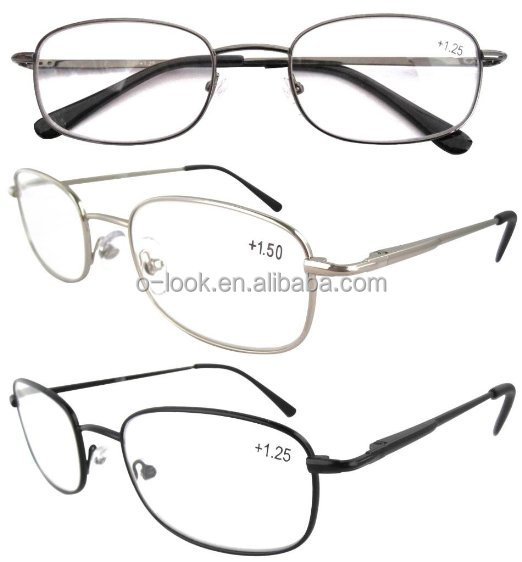 Eyekepper Metal Frame Spring Hinged Arms Reading Glasses