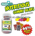 natural color and flavor vitamins gummy bears candy
