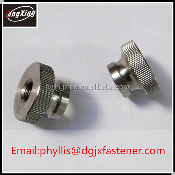 customized stainless steel knurled thumb nut