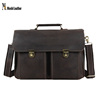 6939 Moshi Most Popular High Quality Genuine Leather Business Briefcase for Lawyer