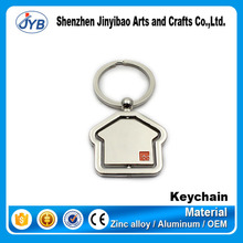 promotional interesting gift house shape keyring metal rotate keychain