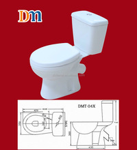 DMT-04X single flush,softclosed seat cover,henan ceramic two piece toilet