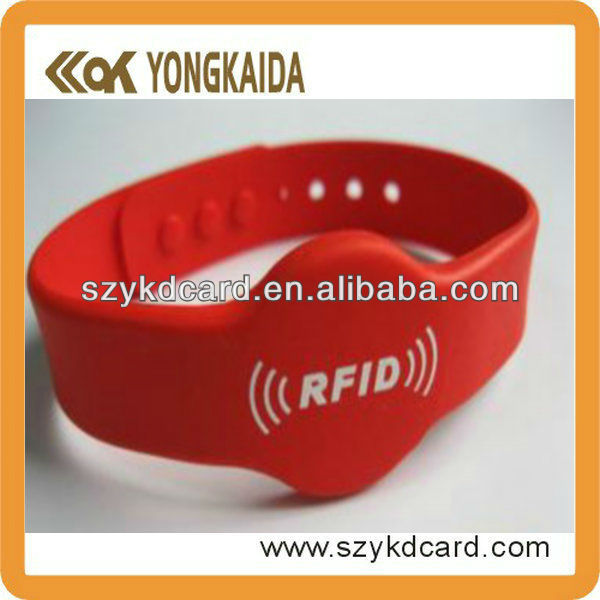 Low Frequency 125KHz RFID Personalized Rubber Wrist Bands