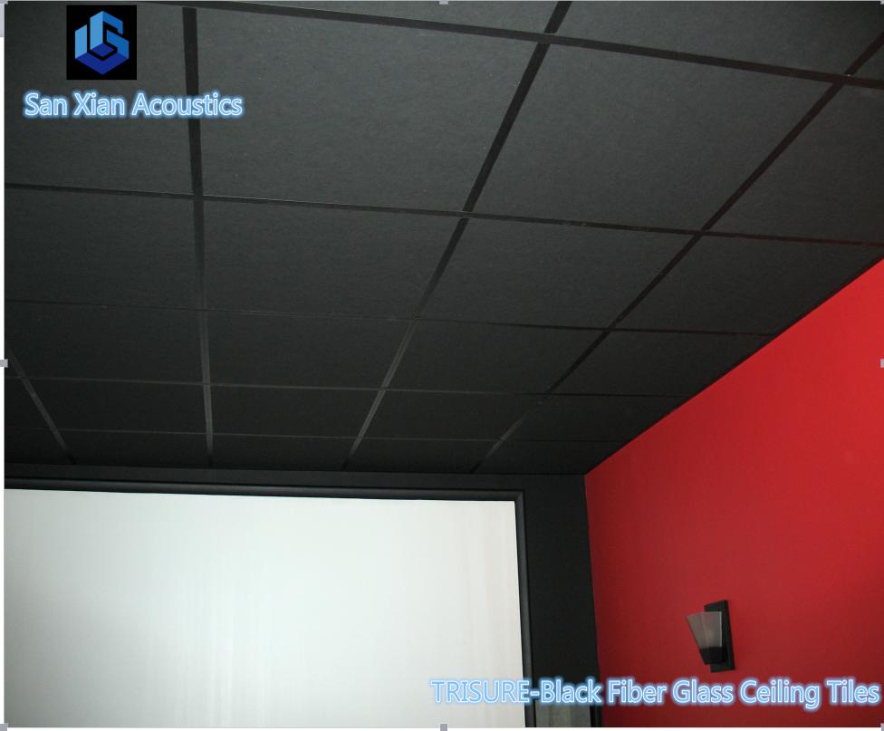 Black Acoustic Ceiling Tiles For Cinema View Black Acoustic Ceiling