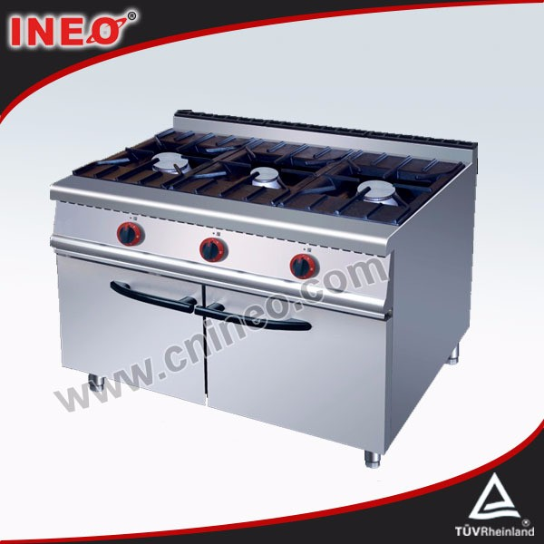 Stainless Steel 304 Commercial stove poland/3 burner commercial cooking range