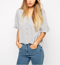 Clothing factory price Wholesale cropped t-shirt Kimono Blouse