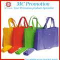 Custom recycle foldable tote shopping bag with snap closure