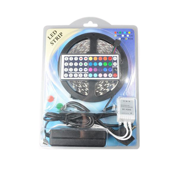 5m led strip 5050 <strong>rgb</strong> ip20 300 led tape light 44 Key Remote 12v 6a Power Supply Kit 5050 Kit Led Strip
