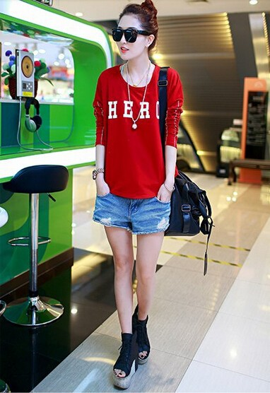 Sexy Women t-shirt,china cheap casual clothing in bulk buy,Newly-design fashion female letter printed cotton t-shirts