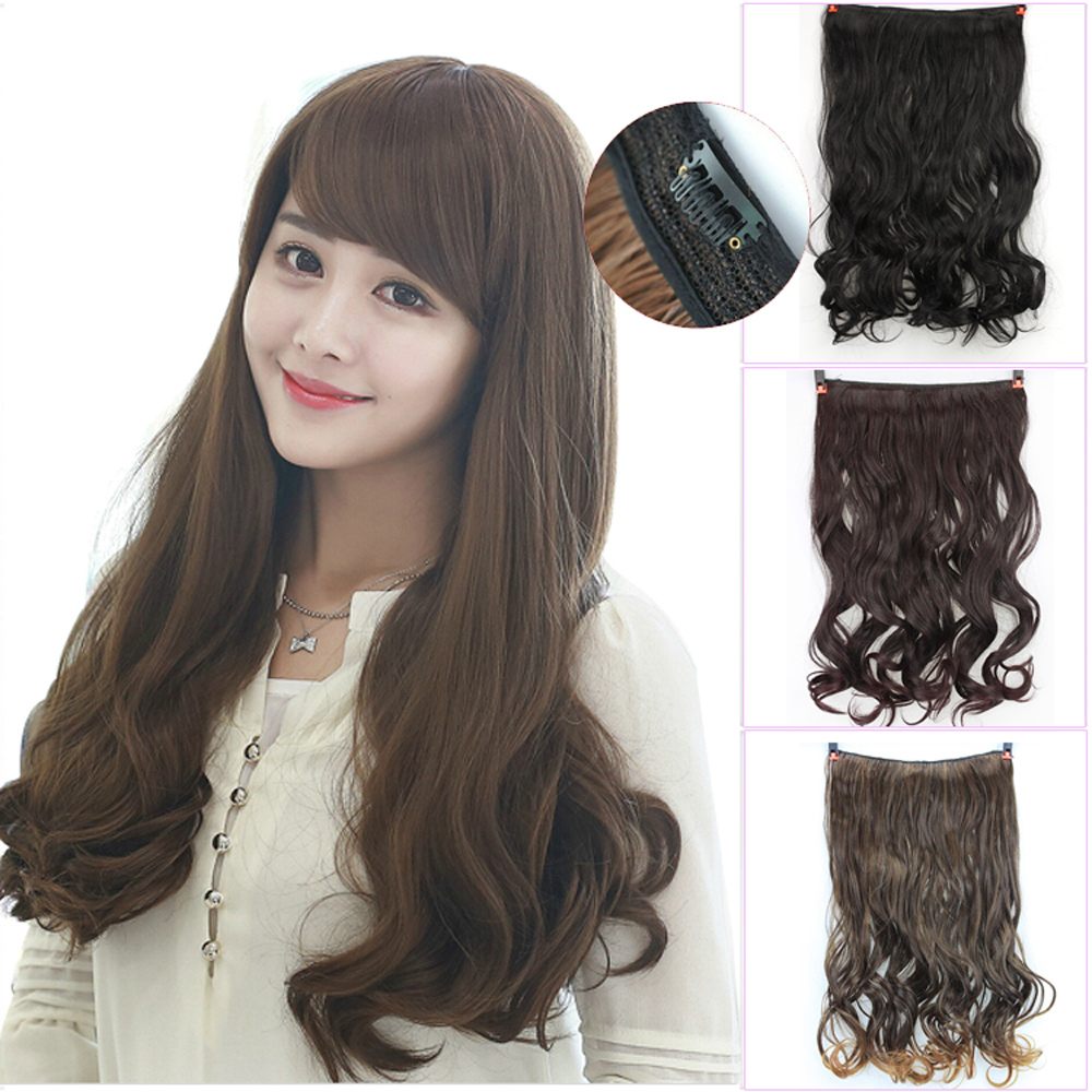 Stylish Long Brown Synthetic Ladies' Curly Hair Extensions , Wigs